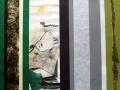 """""""Die Jagd II"""" - Streifencollage und Aquarell - 70 x 80 cm"""