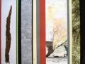 """""""Die Jagd I"""" - Streifencollage und Aquarell - 70 x 80 cm"""