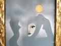 Moonchild - 50 x 60 cm Mixtechnik Lack/Acryl auf Leinwand